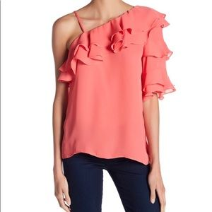 Parker Ruffle Top Small Color Sunset